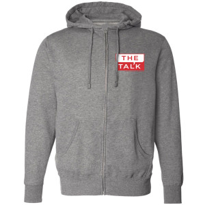 The Talk Logo Zip Up Hoodie [Heather Grey]