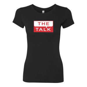 The Talk Logo Womens Slim Fit T-Shirt [Black]