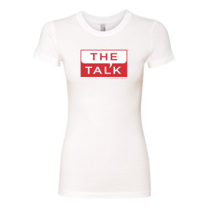 The Talk Logo Womens Slim Fit T-Shirt [White]