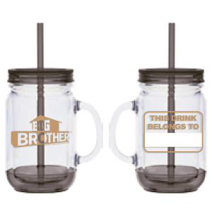 Big Brother Mason Jar Handle Tumbler [Black]
