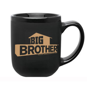 Big Brother Gold Logo Black Mug