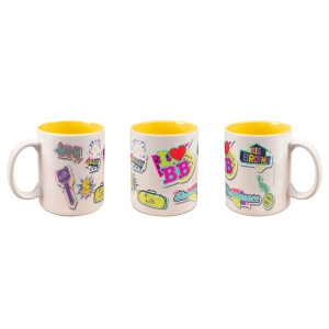 Big Brother Pop Stickers Deco Mug (Yellow)