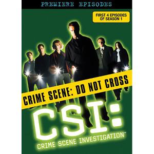 CSI: Crime Scene Investigation - The Premier Episodes DVD