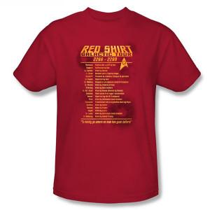 Star Trek Red Shirt Tour T-Shirt