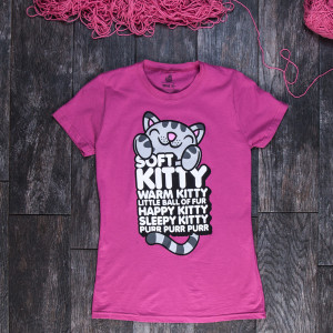 The Big Bang Theory Soft Kitty Pink Women's Junior Fit T-Shirt
