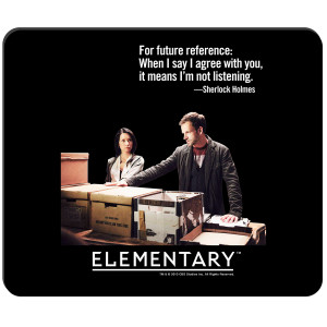 Elementary Not Listening Mousepad