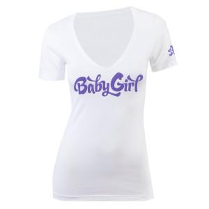 Baby Girl V-Neck T-Shirt - White