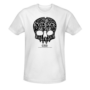 CSI Evidence Never Lies Skull T-Shirt