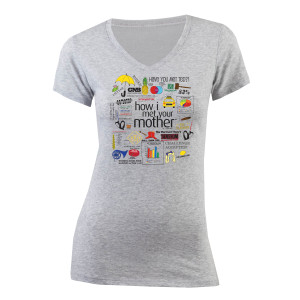 How I Met Your Mother Quote Mashup Women's Junior Fit V-Neck T-Shirt