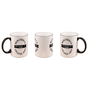 Criminal Minds BAU Black Rim Mug