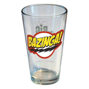 The Big Bang Theory Bazinga Show Logo Pint