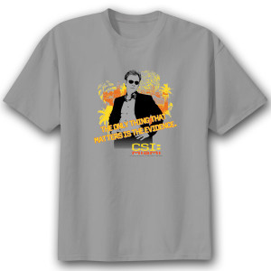 CSI Miami Horatio Caine T-Shirt - Silver