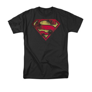 Sheldon's War Torn Superman Shield T-shirt