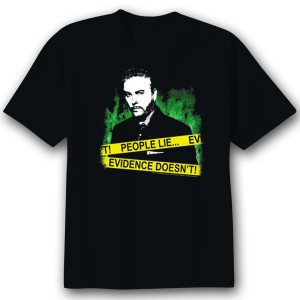 CSI 'People Lie' T-Shirt - Black