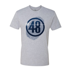48 Hours Thumbprint Logo T-Shirt