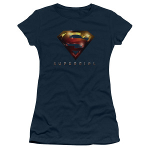 Supergirl Glare Logo Women's Junior Slim Fit T-Shirt