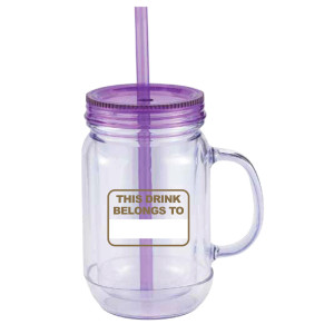 Big Brother Mason Jar Handle Tumbler (Purple)
