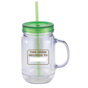 Big Brother Mason Jar Handle Tumbler (Green)