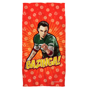 The Big Bang Theory Bazinga Beach Towel