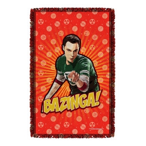 The Big Bang Theory Bazinga Throw Blanket