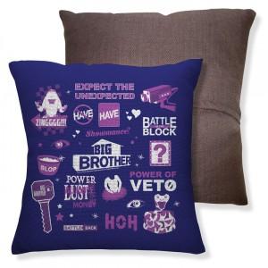 Big Brother Logo Mash Up Pillow