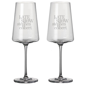 The Late Show with Stephen Colbert Red Wine Glass (Set of 2)