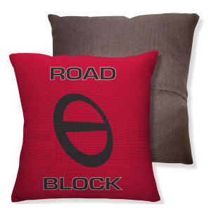 Amazing Race Block Throw Pillow