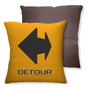Amazing Race Detour Throw Pillow