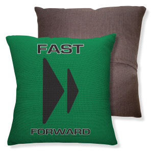Amazing Race Forward Throw Pillow