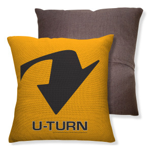 Amazing Race U-Turn Throw Pillow