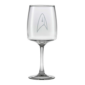 Star Trek Discovery Delta Wine Glass