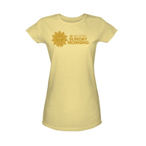 CBS News Sunday Morning Logo Womens Junior Slim Fit T-Shirt