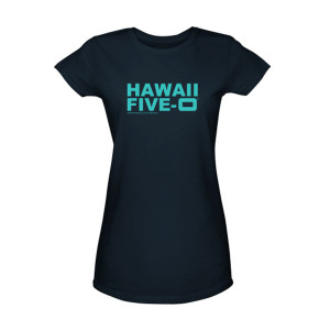 Hawaii Five-O Logo Women's Junior Slim Fit T-Shirt