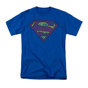 Sheldon's Tattered Superman Shield T-shirt