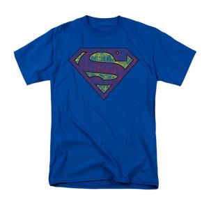 Sheldon's Tattered Superman Shield T-shirt