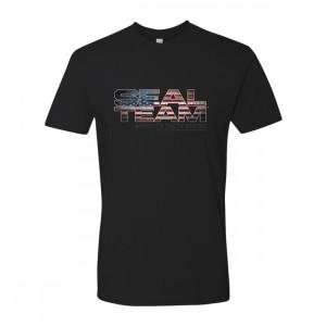 Seal Team American Flag Logo T-Shirt