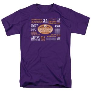 Survivor 500th Episode T-Shirt (Purple)