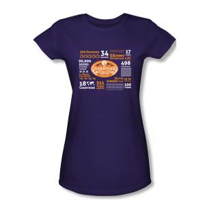 Survivor 500th Episode Women's Slim Fit T-Shirt (Purple)