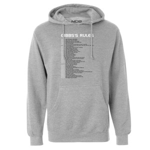 NCIS Gibbs' Rules Pullover Hoodie