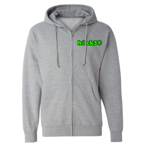 Big Brother Hacker Zip Up Hoodie (Heather Grey)
