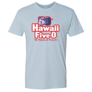 Hawaii Five-0 50th Anniversary T-Shirt (Light Blue)