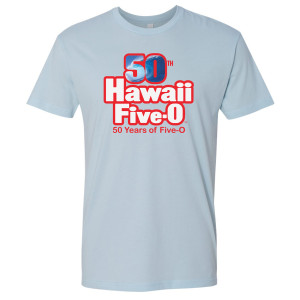 Hawaii Five-0 50th Anniversary T-Shirt (Light Blue)