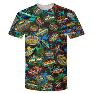Survivor Allover T-Shirt (Black)
