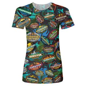Survivor Allover Women's T-Shirt (Black)