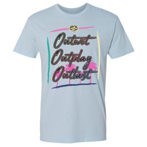 Survivor Outwit Outplay, Outlast Surf T-Shirt (Light Blue)