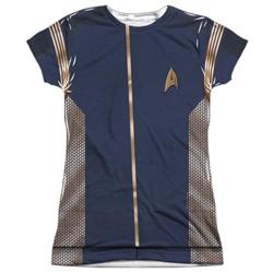 Star Trek Discovery Command Uniform Costume Junior Slim Fit T-Shirt