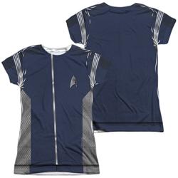 Star Trek Discovery Science Uniform Costume Junior Slim Fit T-Shirt