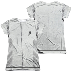 Star Trek Discovery Medical Uniform Costume Junior Slim Fit T-Shirt