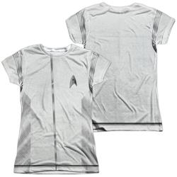 Star Trek Discovery Medical Uniform Costume Junior Slim Fit T-Shirt
