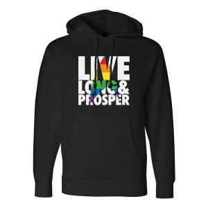 Star Trek Pride Live Long & Prosper Pullover Hoodie (Black)